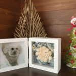 可愛いわんこのプリザーブドフラワーアレンジに挑戦!愛犬の写真を使ったクリスマスツリー&フォトスタンド作り